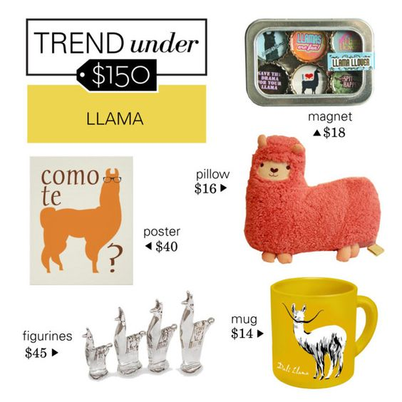 """Trend Under $150: Llama"" by polyvore-editorial ❤ liked on Polyvore featuring interior, interiors, interior design, hogar, home decor, interior decorating, Kate Grenier Designs, NOVICA, llama y trendunder150"