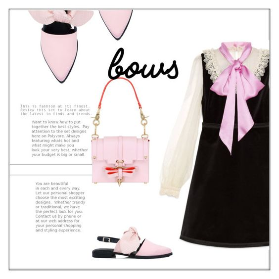 """""""Bows"""" by frenchfriesblackmg ❤ liked on Polyvore featuring Mother of Pearl, Gucci and Niels Peeraer"""