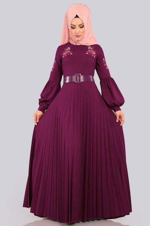 99 Tl Balon Kol Piliseli Elbise Pl852 S Sarabi Elbise Elbiseler Giyim