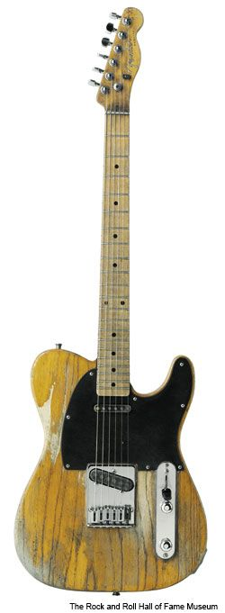 Telecaster. This Tele should play really well as it must have had lots of practice!