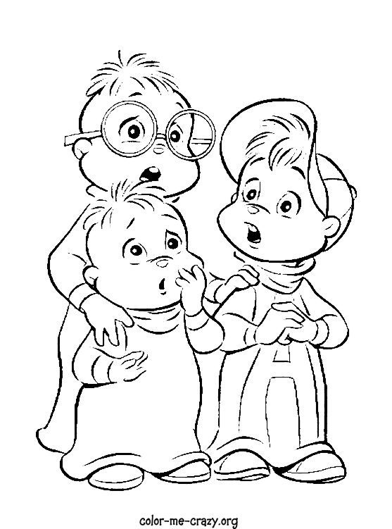 chipmunks chipettes coloring pages - photo#17