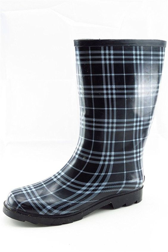 Stylish Women's Rain Boots Water Shoes High Leg With Cute Pattern Tyc189 *** You can find out more details at the link of the image.