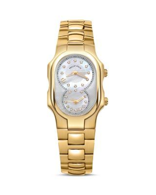 Philip Stein Signature Small Gold IP Diamond Dial Watch, 27mm   Bloomingdale's