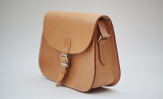 Women's Bag / Leather Bags / Handmade Saddle Leather Bag Large Brown