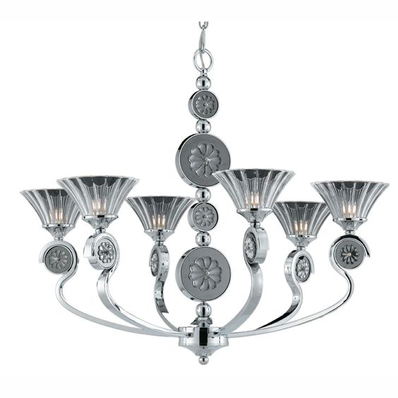 Triarch International 39413 - Medallion 6 Lt. Chandelier