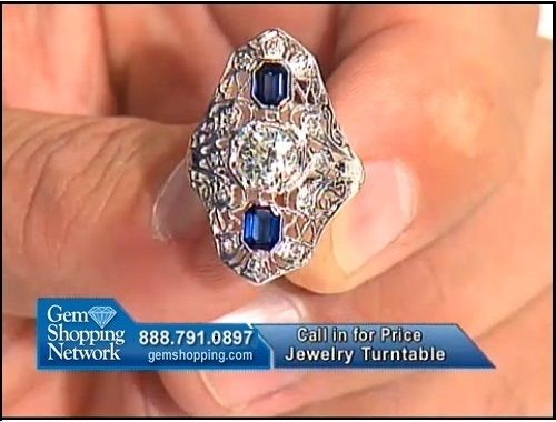An estate sapphire and diamond ring