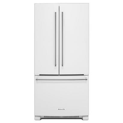 KitchenAid® 22 cu Ft. French Door Refrigerator with Interior Dispense - KRFF302EWH: