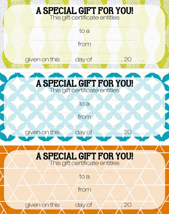 Teacher Appreciation - Tip #16 Give a Gift Certificate Gift - how to create a gift certificate in word