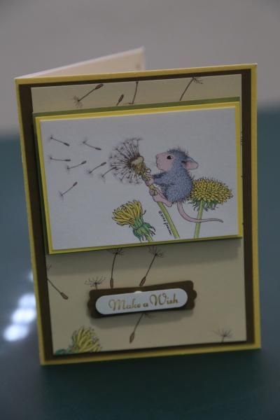 house mouse card make a wish by jmcsymach - Cards and Paper Crafts at Splitcoaststampers