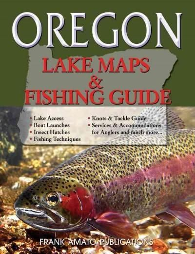 Oregon lake maps fishing guide paperback boats for Peak fishing times for today