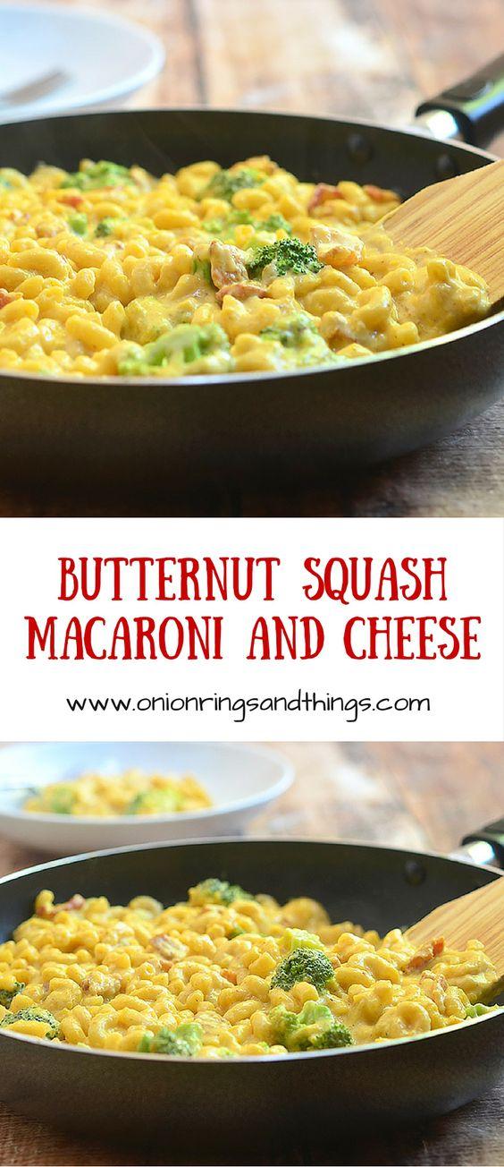 Macaroni and cheese, Macaroni and Butternut squash on Pinterest