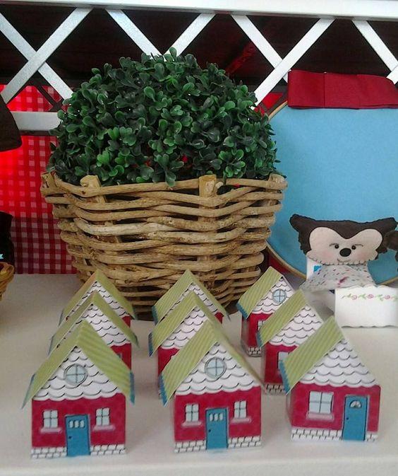 Mini casinhas para guloseimas