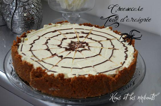 Cheesecake Toile d'araignée pour Halloween - No-Bake Spiderweb Cheesecake