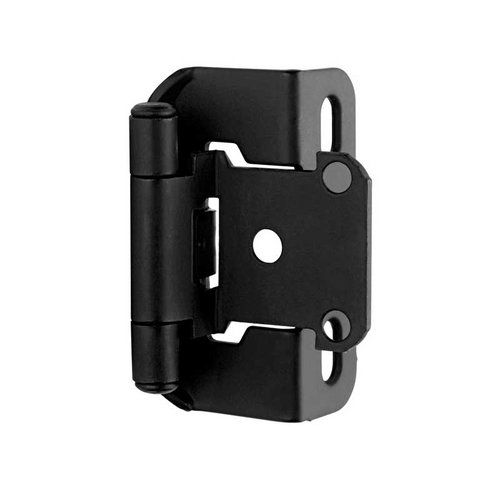 Amerock Partial Wrap 1 2 Inch Overlay Hinge Flat Black Per Pair Bpr7550fb Overlay Hinges Amerock Hinges Hinges For Cabinets