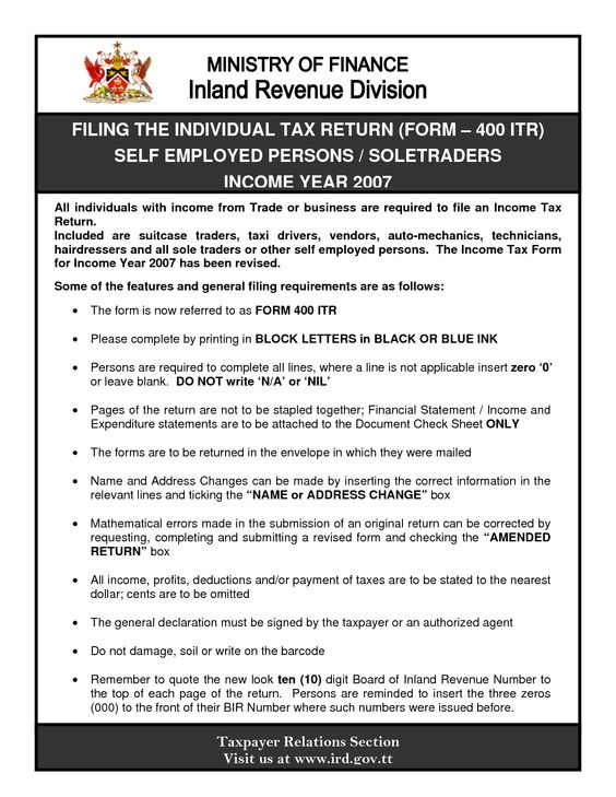 SelfEmployed Tax Return Forms Working At Home  Home Business