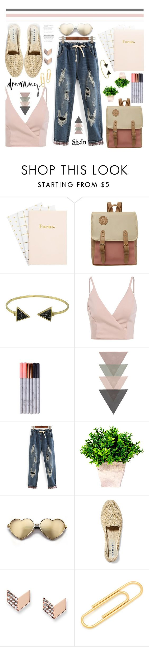 """""""Shine In!"""" by wannanna ❤ liked on Polyvore featuring WithChic, Wildfox, Manebí, FOSSIL and Ox & Bull Trading Co."""