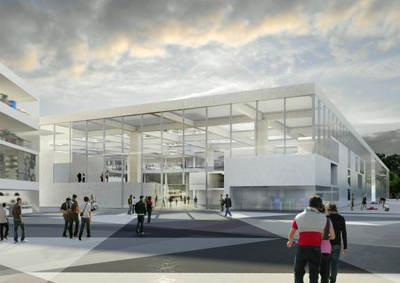 Gallery of OMA wins competition for new engineering school in France - 4