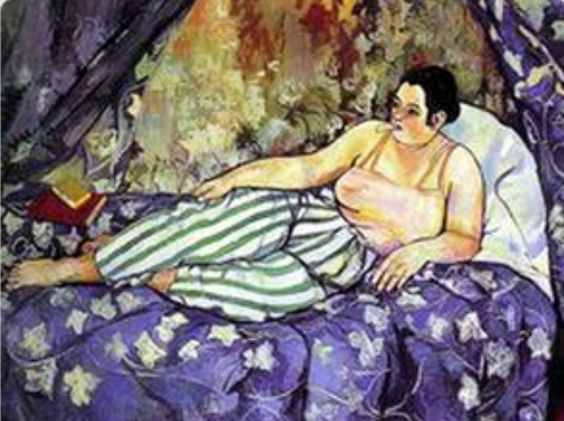 ⊰ Posing with Posies ⊱ paintings of women and flowers - Suzanne Valadon | The Blue Room, 1923