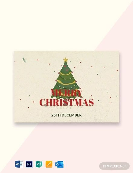Free Merry Christmas Card Template Word Doc Psd Apple Mac Pages Publisher Outlook Merry Christmas Card Christmas Card Template Christmas Cards