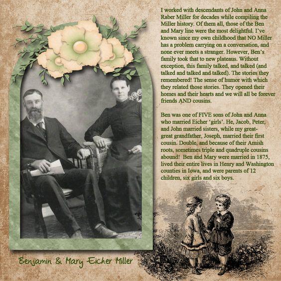Benjamin and Mary Eicher Miller - Scrapbook.com