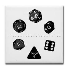 Dice Ring Tile Coaster