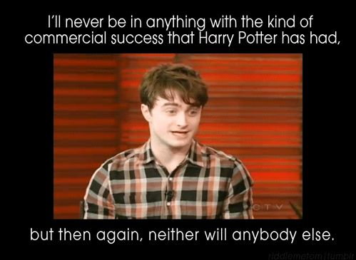 I think I just need to make a board dedicated to all the reasons why Daniel Radcliffe is my favorite human being.