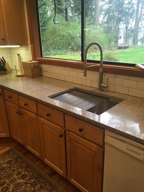 28 Undermount Ledge Sink Rustic Kitchen Kitchen Sink Remodel