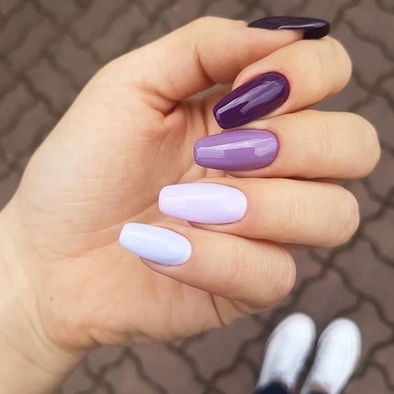 Discover Our Semi Permanent 3 In 1 Nail Polish For A Perfect Manicure In Record Time 30 On Your First Orde Purple Nails Cute Acrylic Nails Fire Nails