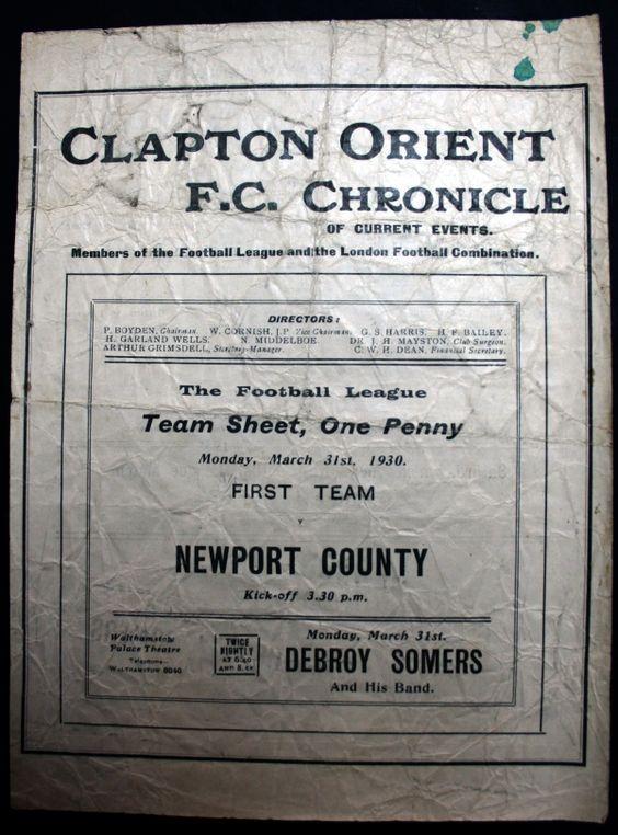 Clapton Orient FC Chronicle