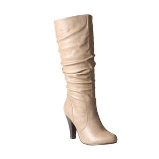 @Overstock - Constructed from quality components, the Jazz boot features a faux leather upper, a gorgeous heel and an inside zipper. Highlights by the functional back zipper for easy styling.http://www.overstock.com/Clothing-Shoes/Refresh-by-Beston-Womens-Jazz-Knee-High-Boots/7218080/product.html?CID=214117 CAD              55.14
