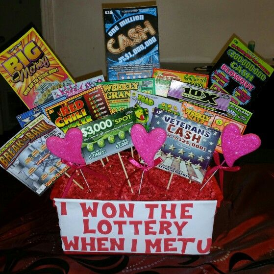 18th Birthday Basket For My Son S Birthday Filled With: Made My Husband A Lottery Basket For Valentine's Day 2015