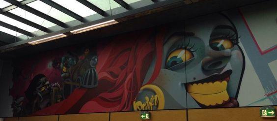 Subway art in LA