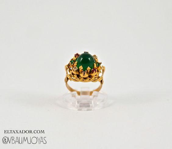 Anillo 1940 de oro con esmeralda #vintage #gold #emerald #jewellery