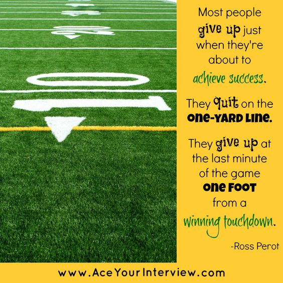 Donu0027t Give Up! #football #quote #job #interview #career #college - interview resume