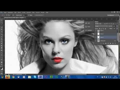 Adobe Photoshop CS6 Tutorial: Farbe in Schwarzweißfoto [HD] - YouTube
