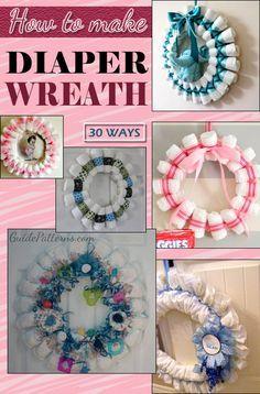 30 Ways to Make a Diaper Wreath