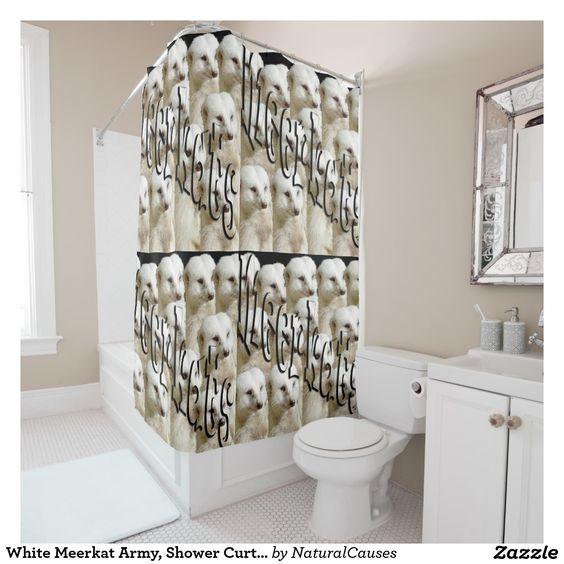 Meerkat Army, Shower Curtain. Shower Curtain