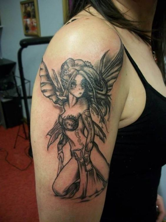 tattoo motive elf 39 s upper arm tattoo tattooed tattoos. Black Bedroom Furniture Sets. Home Design Ideas