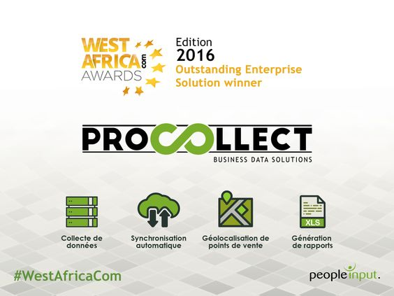 ProCollect remporte le Trophée de la « Meilleure Solution pour Entreprises » aux West Africa Com Awards