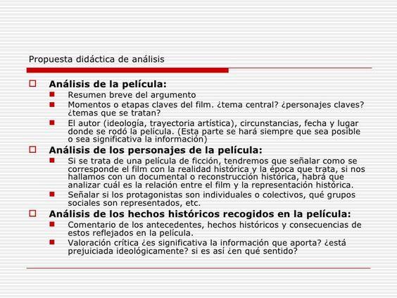 Propuesta didáctica de análisis de una película