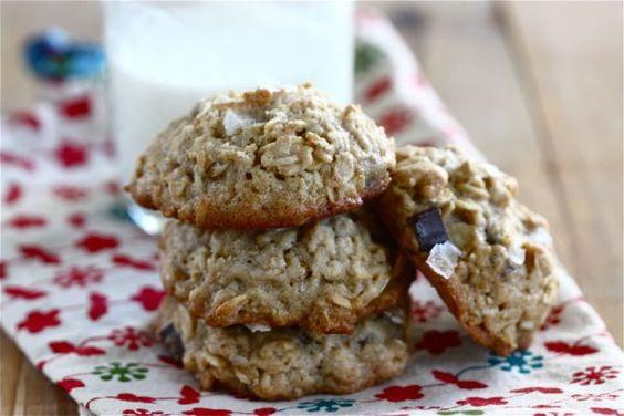 Salty Chocolate Chip Oatmeal Cookies