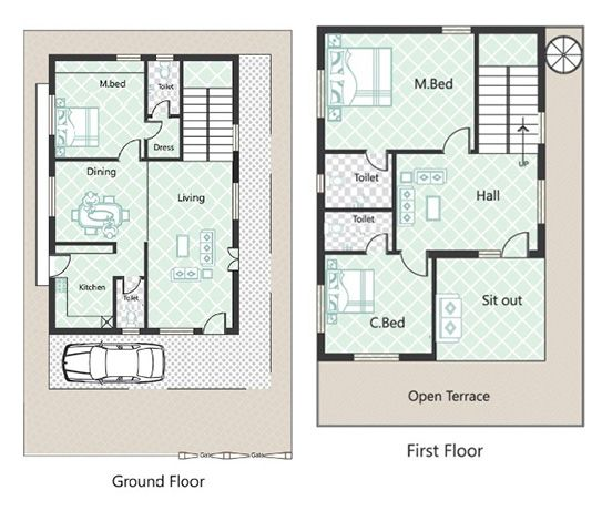 3 Bedroom 25x40 House Plans House Plans Barn House Plans 2bhk House Plan