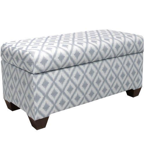 Found it at AllModern - Ikat Upholstered Storage Bedroom Bench