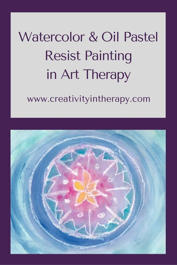 Watercolor Oil Pastel Resist Painting In Art Therapy Art Therapy