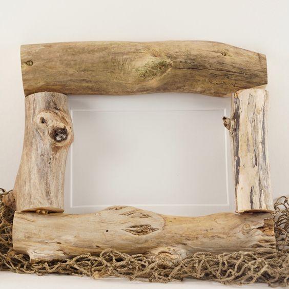 5x7 Driftwood Frame - Oh So Shabby! by PhotosDriftwoodFrame on Etsy