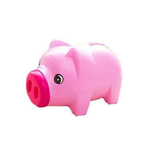 Levoberg Piggy Bank Shape Pig Charming Unbreakable Gift Kids 7 5x3 93x4 33inch Red Piggy Bank Baby Gifts Piggy