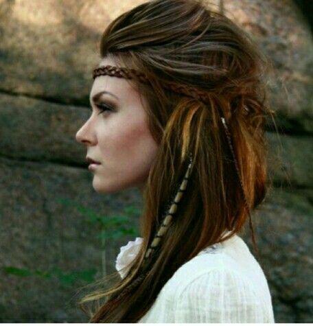 Penteado hippie. Cor. Ombre