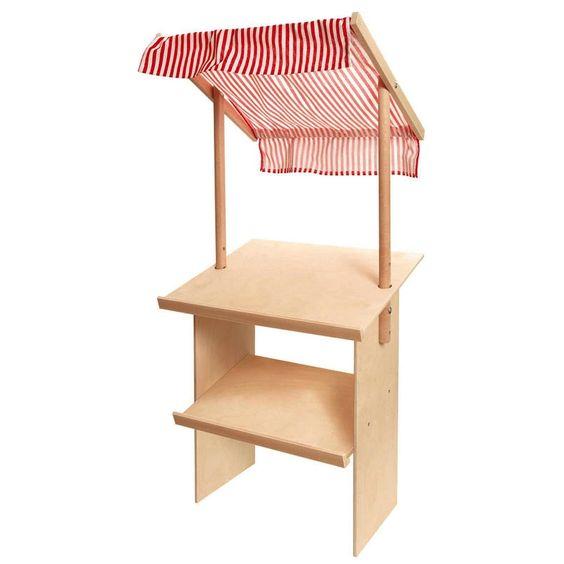 Nemmer Marktstand aus Holz mit Markise kaufen im Kinderspielzeug Online Shop…