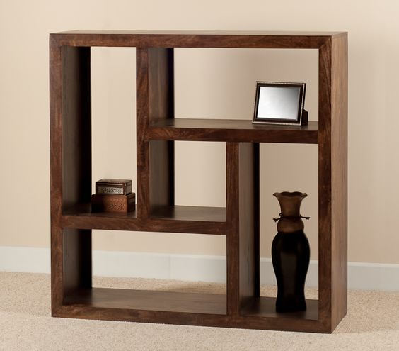 Dakota Walnut Low Open Bookcase Shelving Unit Casa Bella Furniture