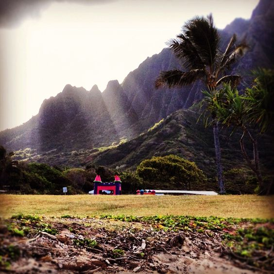 Kualoa Park in Oahu